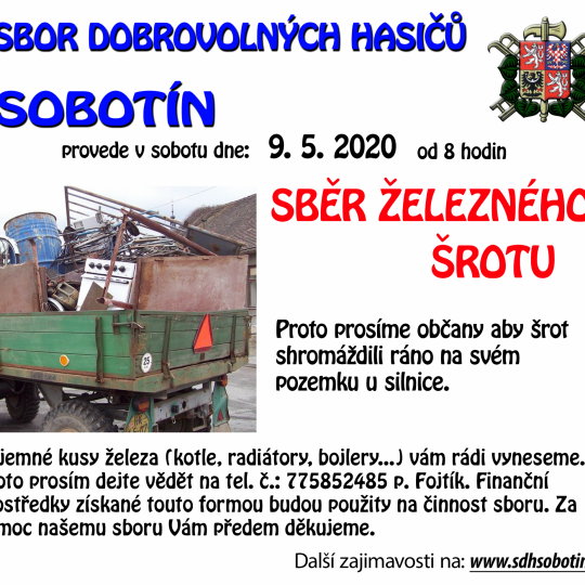 sběr železa 2021