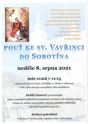 Pouť ke sv. Vavřinci do Sobotína